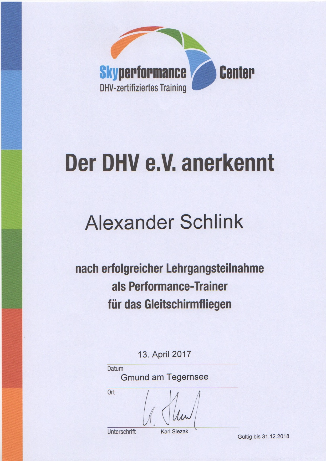 DHV Performance Trainer